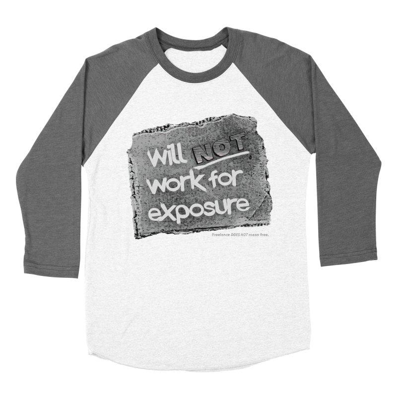 WNWFE (Will Not Work For Exposure) Women's Baseball Triblend T-Shirt by Jason Henricks' Artist Shop
