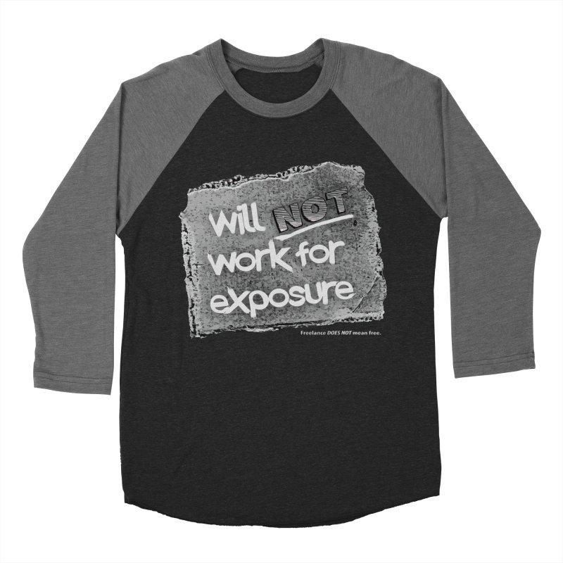 WNWFE (Will Not Work For Exposure) Women's Baseball Triblend Longsleeve T-Shirt by Jason Henricks' Artist Shop