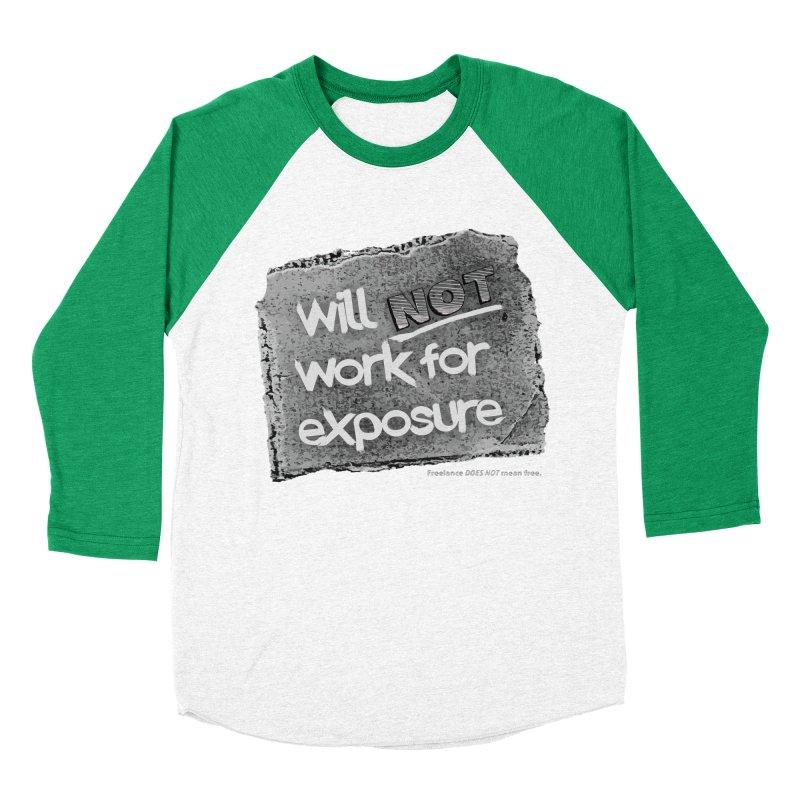 WNWFE (Will Not Work For Exposure) Men's Baseball Triblend Longsleeve T-Shirt by Jason Henricks' Artist Shop