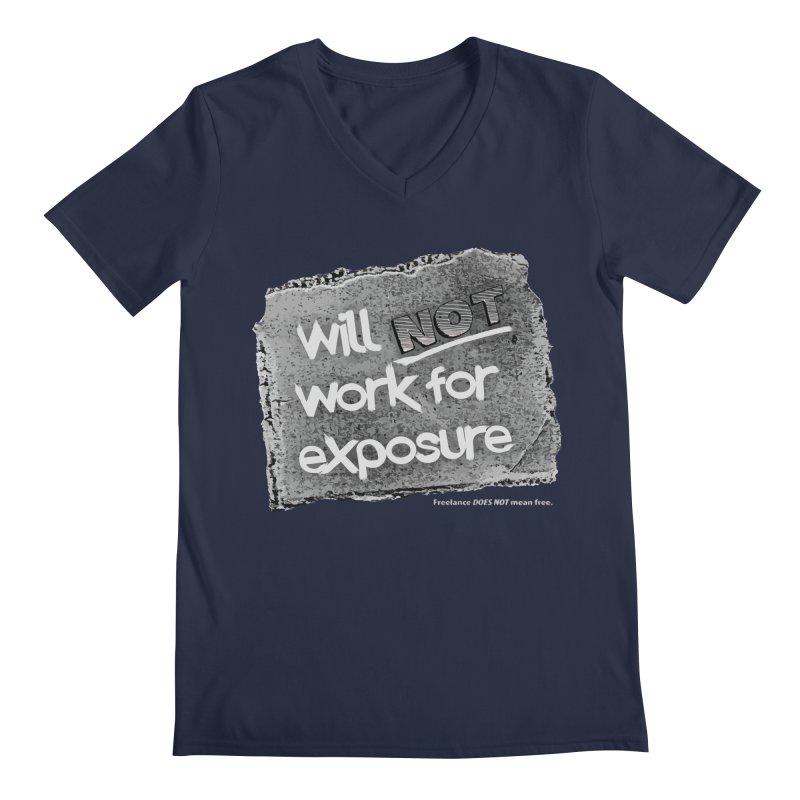 WNWFE (Will Not Work For Exposure) Men's Regular V-Neck by Jason Henricks' Artist Shop