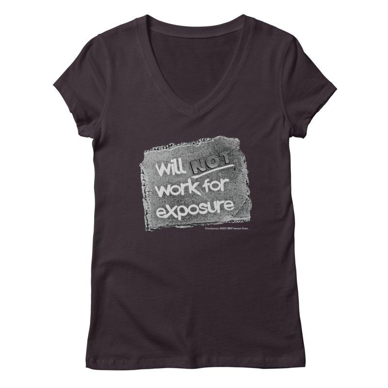 WNWFE (Will Not Work For Exposure) Women's V-Neck by Jason Henricks' Artist Shop