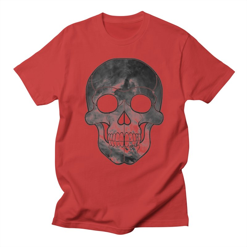 hellish. in Men's Regular T-Shirt Red by Jason Henricks' Artist Shop