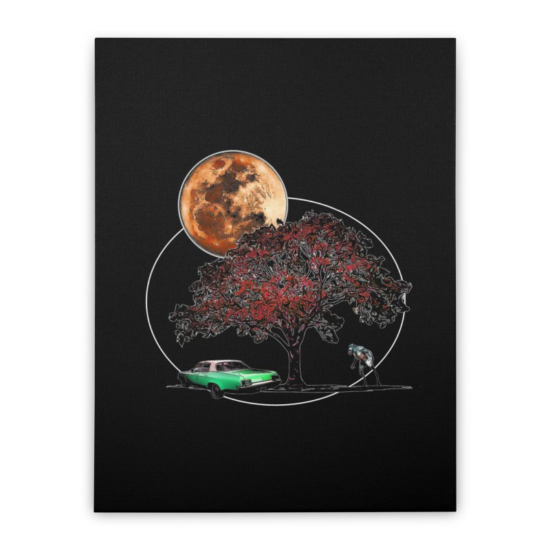 Full Moon on Lover's Lane - Color Version Home Stretched Canvas by Jason Henricks' Artist Shop