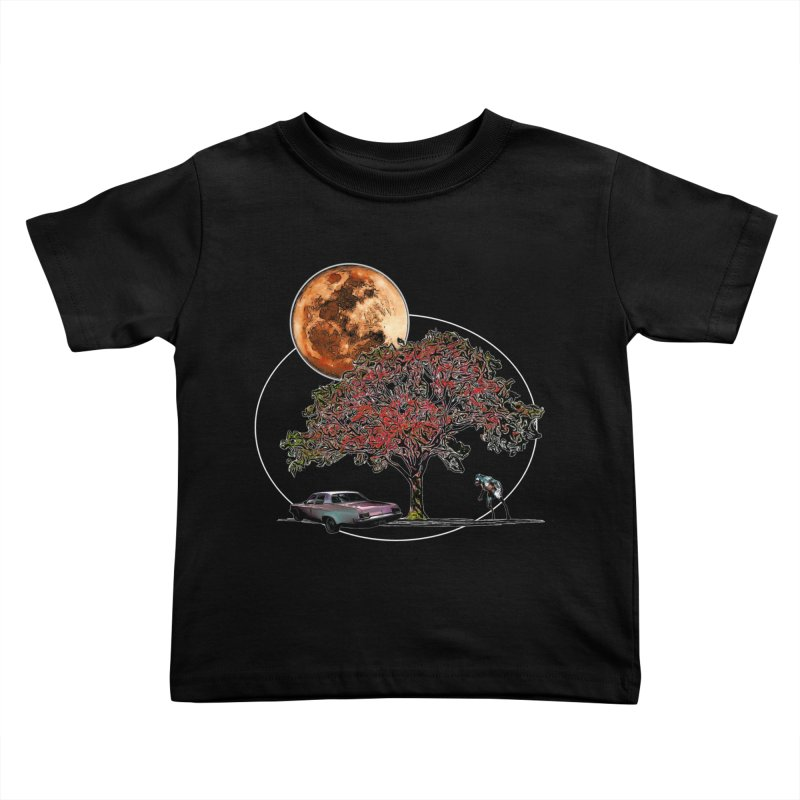 Full Moon on Lover's Lane - Color Version Kids Toddler T-Shirt by Jason Henricks' Artist Shop