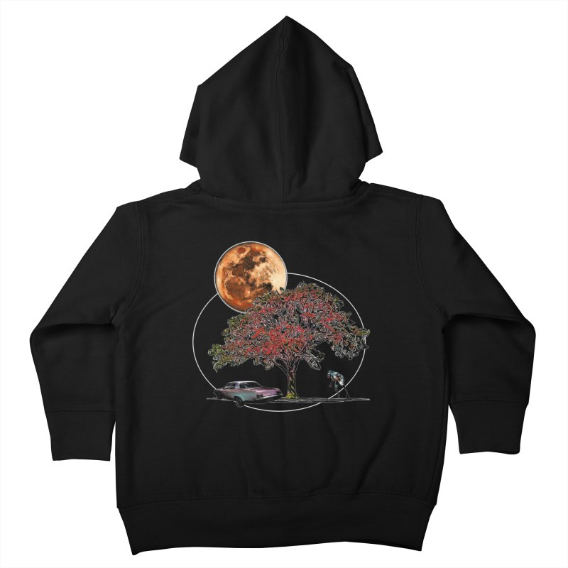 Full Moon on Lover's Lane - Color Version Kids Toddler Zip-Up Hoody by Jason Henricks' Artist Shop