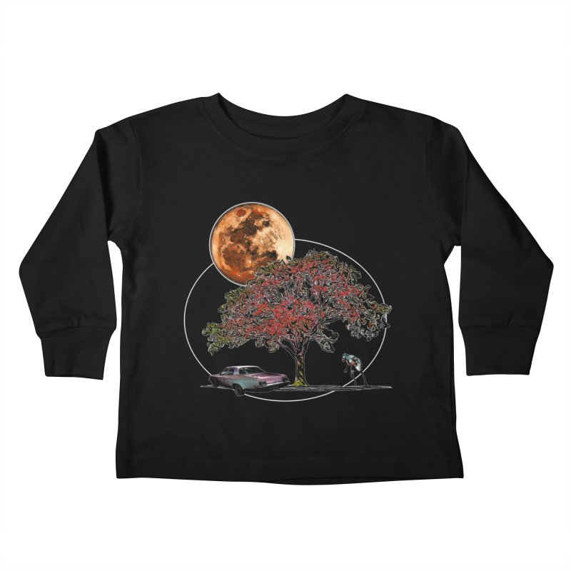 Full Moon on Lover's Lane - Color Version Kids Toddler Longsleeve T-Shirt by Jason Henricks' Artist Shop