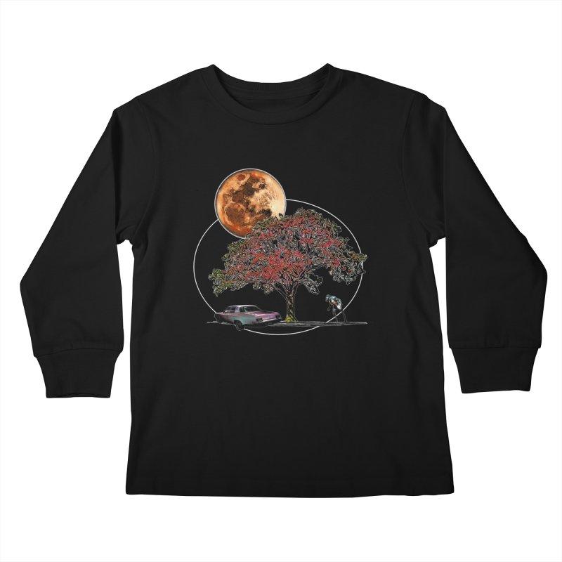 Full Moon on Lover's Lane - Color Version Kids Longsleeve T-Shirt by Jason Henricks' Artist Shop