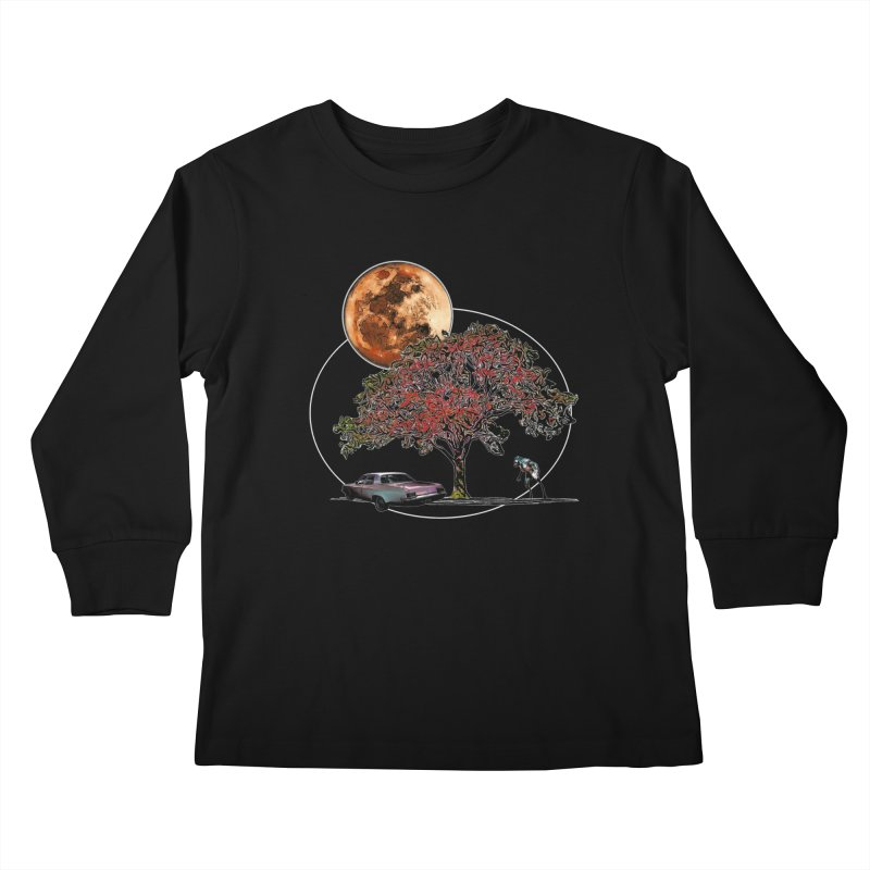 Full Moon on Lover's Lane - Color Version Kids Longsleeve T-Shirt by Jason Henricks' Artist Shop