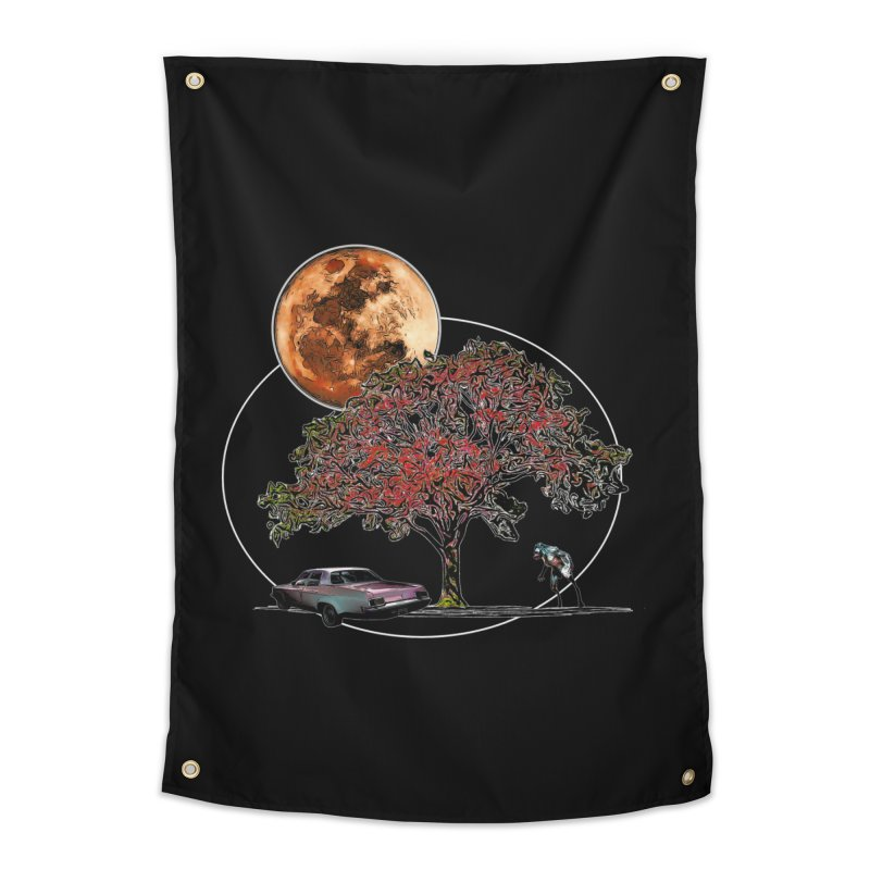 Full Moon on Lover's Lane - Color Version Home Tapestry by Jason Henricks' Artist Shop