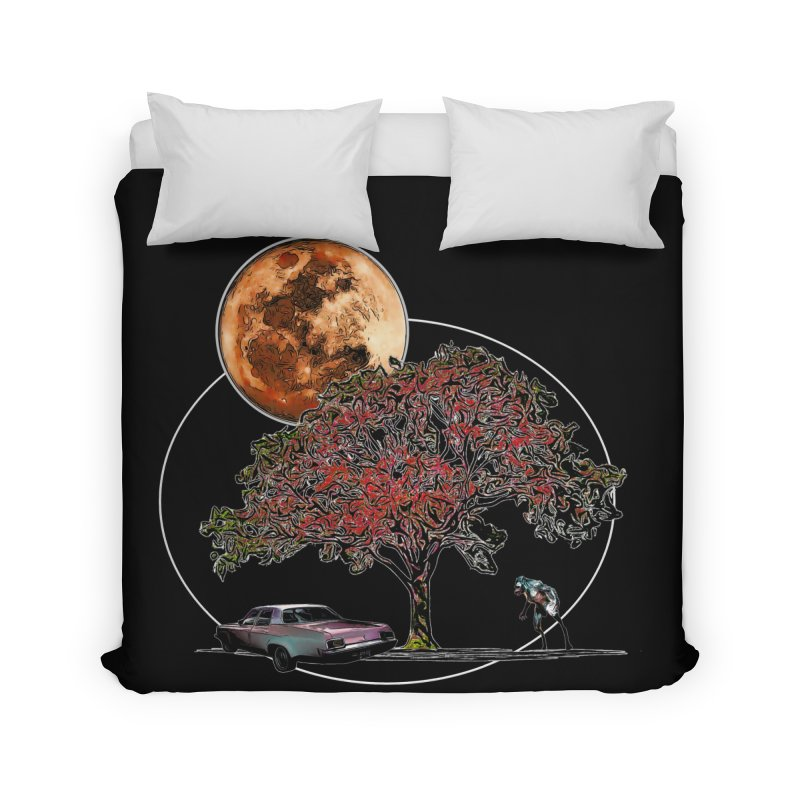 Full Moon on Lover's Lane - Color Version Home Duvet by Jason Henricks' Artist Shop