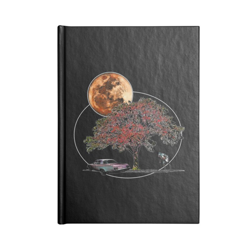 Full Moon on Lover's Lane - Color Version Accessories Notebook by Jason Henricks' Artist Shop