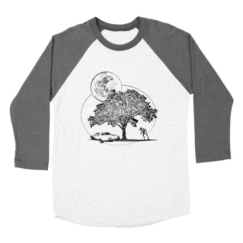 Full Moon on Lover's Lane - Classic Monster Version Men's Baseball Triblend T-Shirt by Jason Henricks' Artist Shop