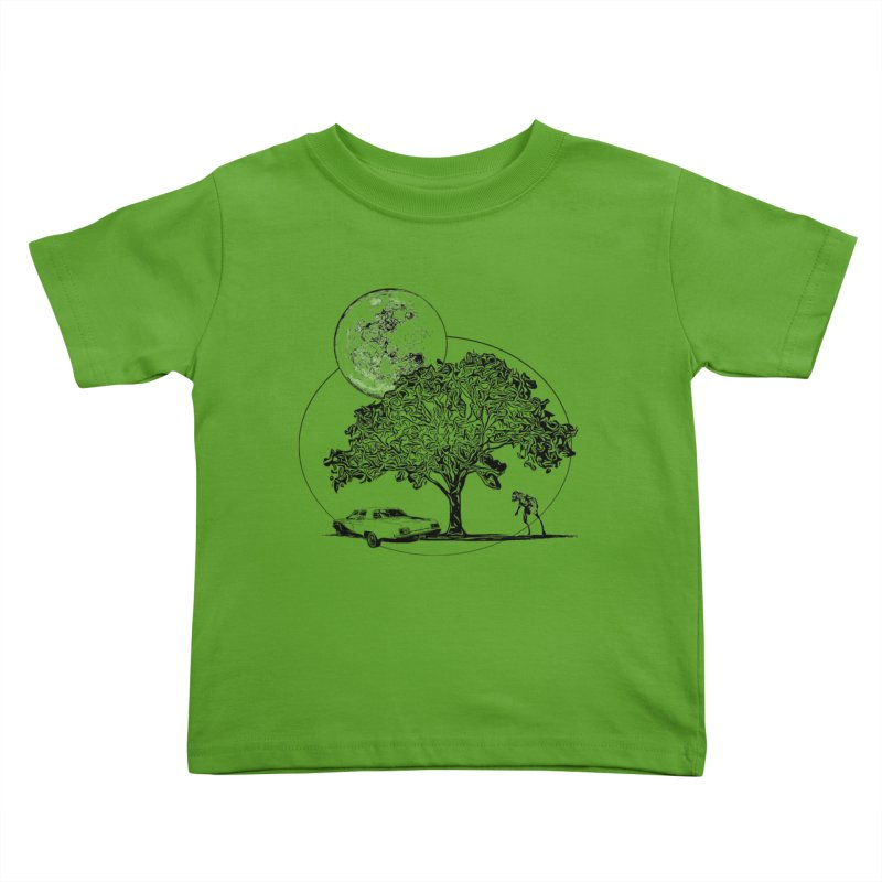 Full Moon on Lover's Lane - Classic Monster Version Kids Toddler T-Shirt by Jason Henricks' Artist Shop