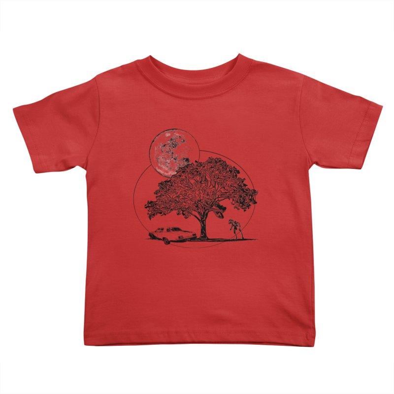 Full Moon on Lover's Lane - Classic Monster Version Kids Toddler T-Shirt by Jason Henricks' Artist Shop