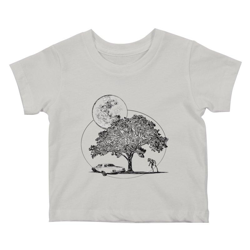 Full Moon on Lover's Lane - Classic Monster Version Kids Baby T-Shirt by Jason Henricks' Artist Shop