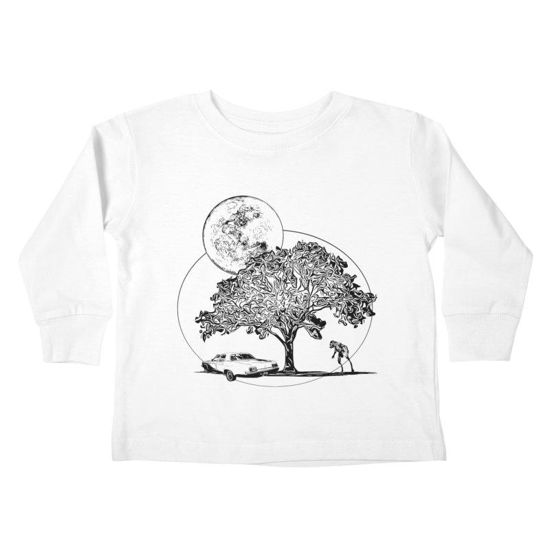 Full Moon on Lover's Lane - Classic Monster Version Kids Toddler Longsleeve T-Shirt by Jason Henricks' Artist Shop