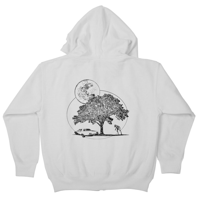 Full Moon on Lover's Lane - Classic Monster Version Kids Zip-Up Hoody by Jason Henricks' Artist Shop