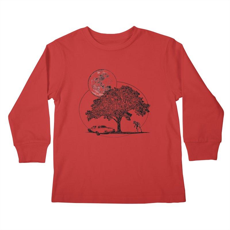 Full Moon on Lover's Lane - Classic Monster Version Kids Longsleeve T-Shirt by Jason Henricks' Artist Shop
