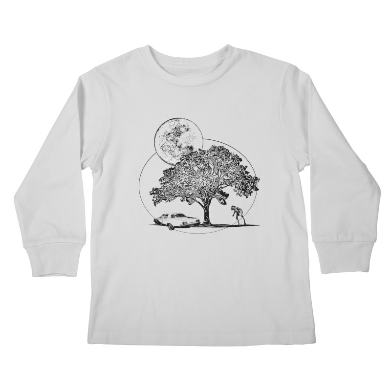 Full Moon on Lover's Lane - Classic Monster Version Kids Longsleeve T-Shirt by Jason Henricks' Artist Shop