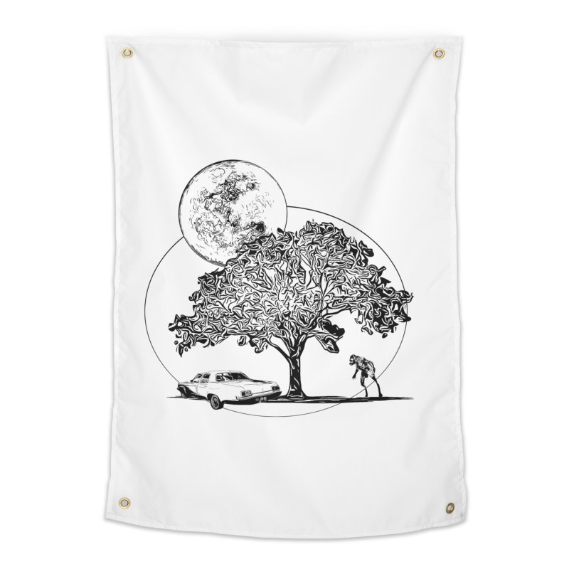 Full Moon on Lover's Lane - Classic Monster Version Home Tapestry by Jason Henricks' Artist Shop