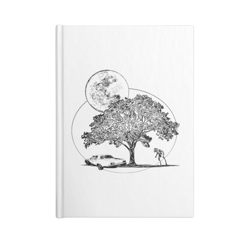 Full Moon on Lover's Lane - Classic Monster Version Accessories Notebook by Jason Henricks' Artist Shop