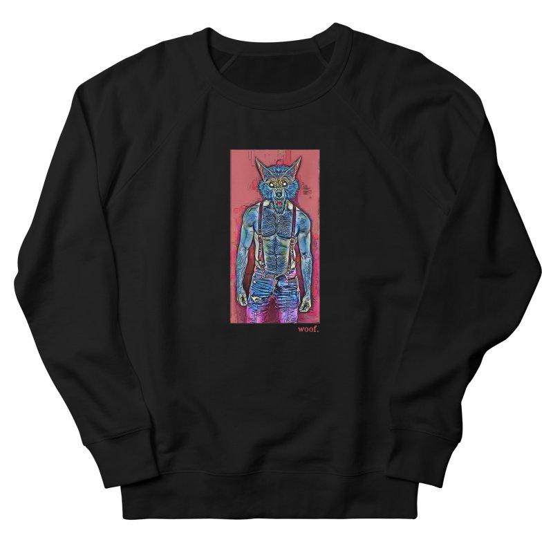 woof. Men's Sweatshirt by Jason Henricks' Artist Shop