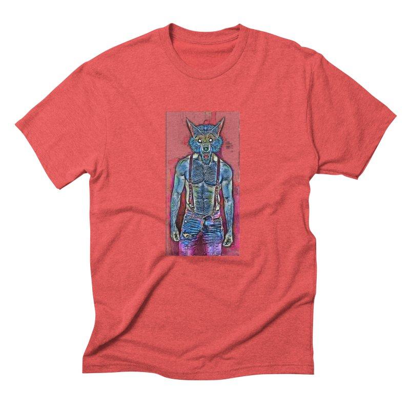 woof. Men's Triblend T-shirt by Jason Henricks' Artist Shop