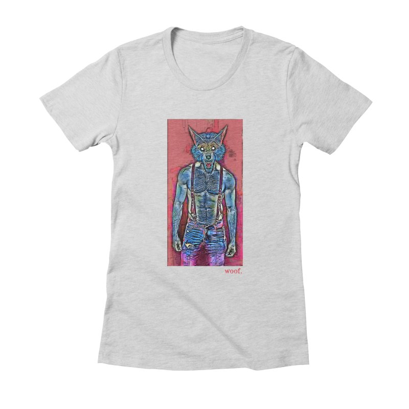 woof. Women's Fitted T-Shirt by Jason Henricks' Artist Shop