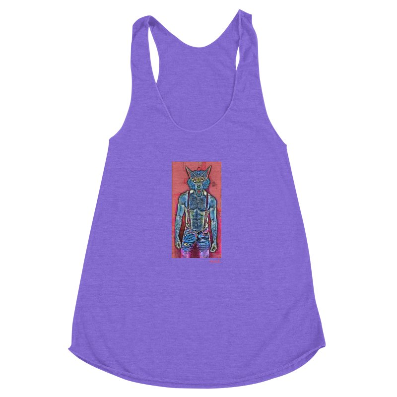 woof. Women's Racerback Triblend Tank by Jason Henricks' Artist Shop