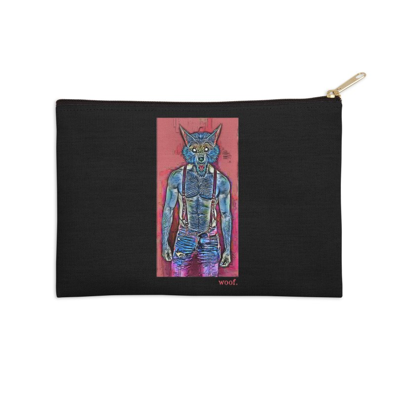 woof. Accessories Zip Pouch by Jason Henricks' Artist Shop