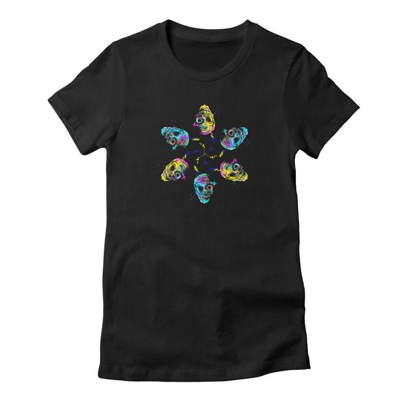 ghouls weekend Women's Fitted T-Shirt by Jason Henricks' Artist Shop
