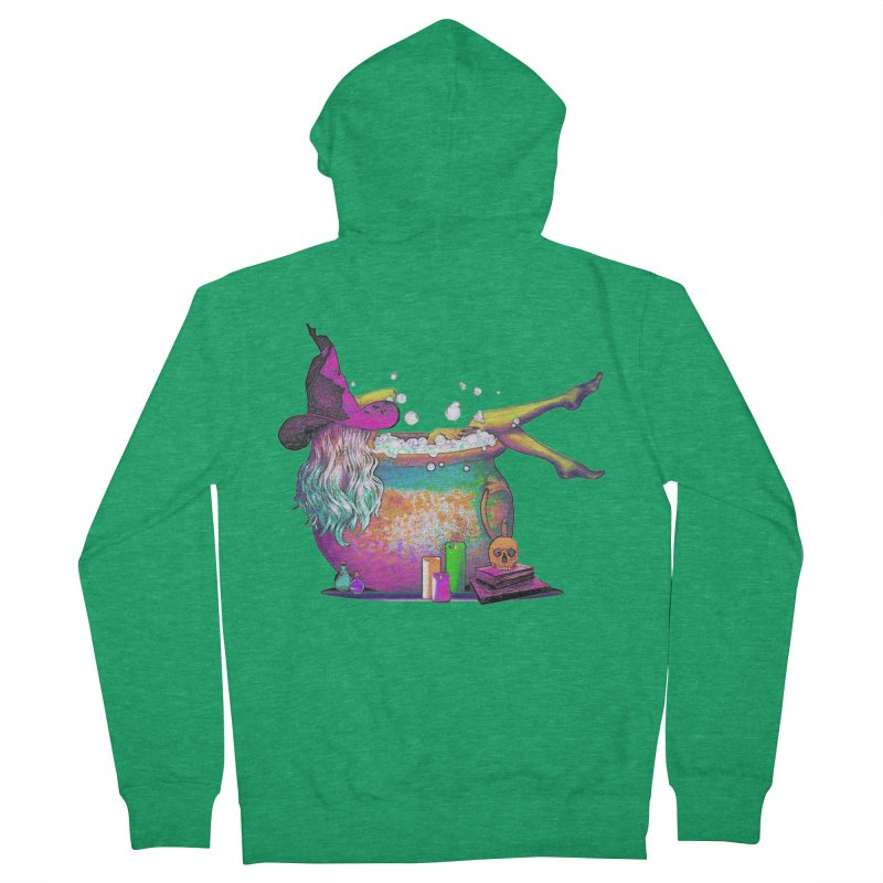 A little witchy.- Psychedelic Edition in Women's Zip-Up Hoody Heather Kelly by Jason Henricks' Artist Shop
