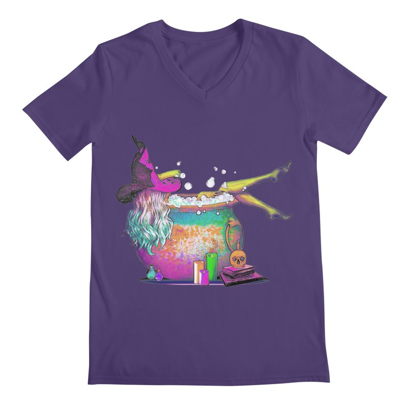 A little witchy.- Psychedelic Edition Men's V-Neck by Jason Henricks' Artist Shop