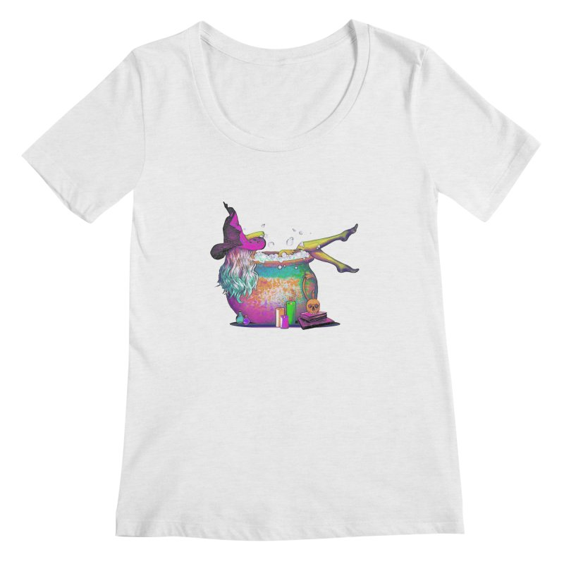 A little witchy.- Psychedelic Edition Women's Scoopneck by Jason Henricks' Artist Shop