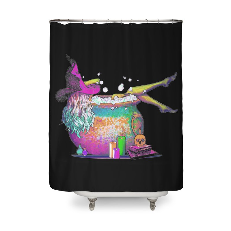 A little witchy.- Psychedelic Edition Home Shower Curtain by Jason Henricks' Artist Shop