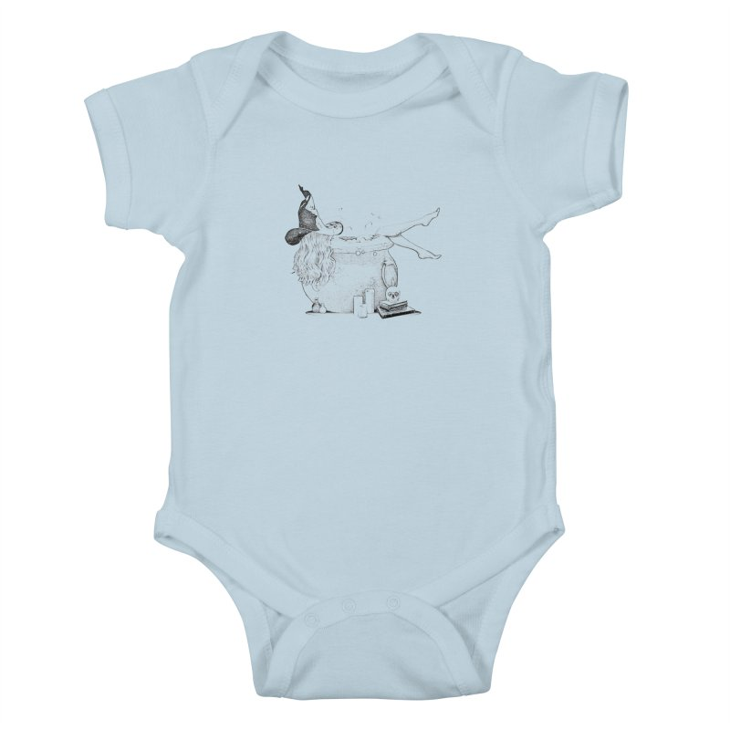 A little witchy. Kids Baby Bodysuit by Jason Henricks' Artist Shop