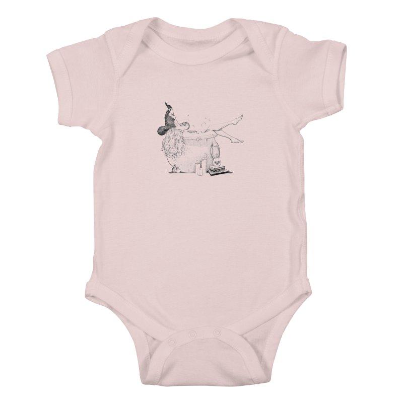 A little witchy. Kids Baby Bodysuit by Jason Henricks' Artist Shop