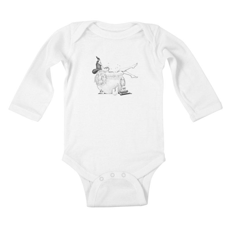 A little witchy. Kids Baby Longsleeve Bodysuit by Jason Henricks' Artist Shop