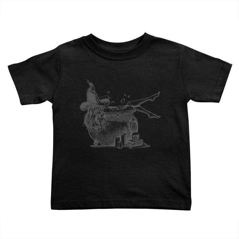 A little witchy. Kids Toddler T-Shirt by Jason Henricks' Artist Shop