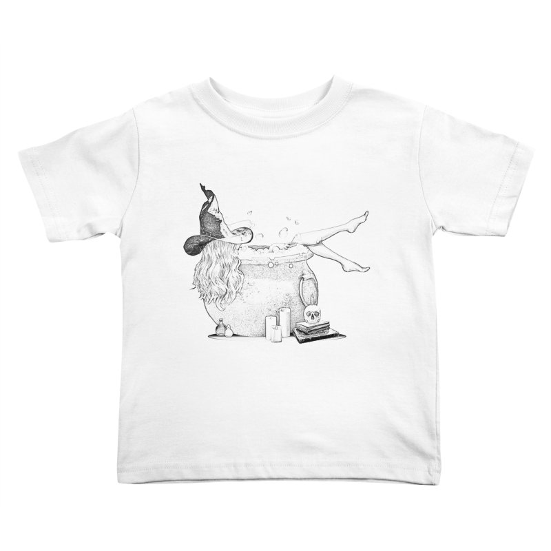 A little witchy. Kids Toddler T-Shirt by Jason Henricks' Artist Shop