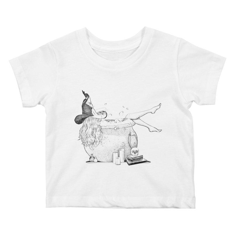 A little witchy. Kids Baby T-Shirt by Jason Henricks' Artist Shop