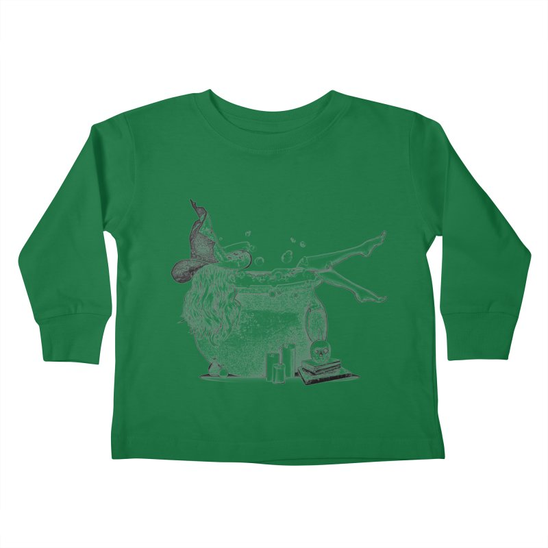A little witchy. Kids Toddler Longsleeve T-Shirt by Jason Henricks' Artist Shop