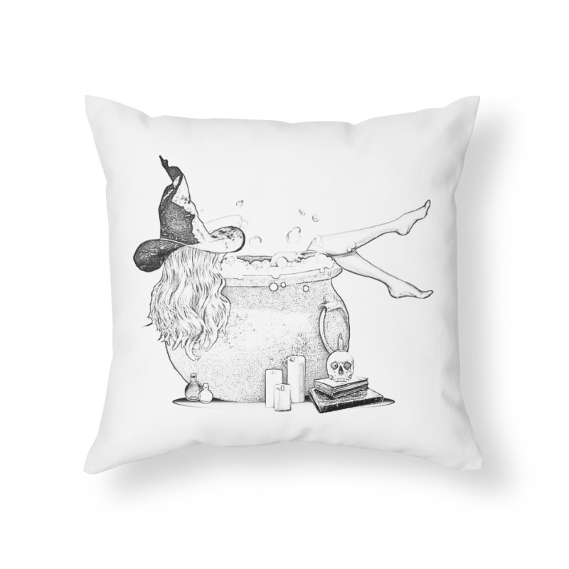 A little witchy. in Throw Pillow by Jason Henricks' Artist Shop