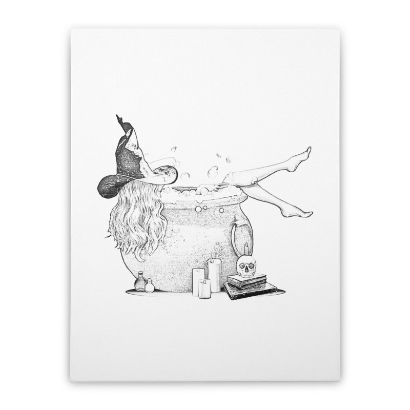A little witchy. Home Stretched Canvas by Jason Henricks' Artist Shop