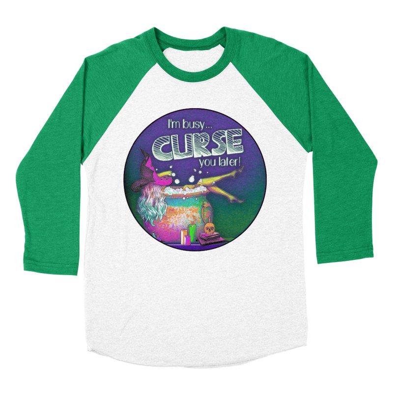 Curse You Later Women's Baseball Triblend Longsleeve T-Shirt by Jason Henricks' Artist Shop