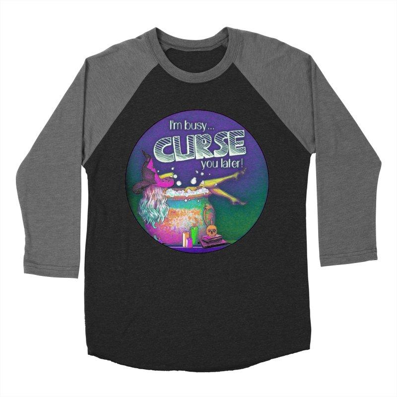 Curse You Later Men's Baseball Triblend Longsleeve T-Shirt by Jason Henricks' Artist Shop