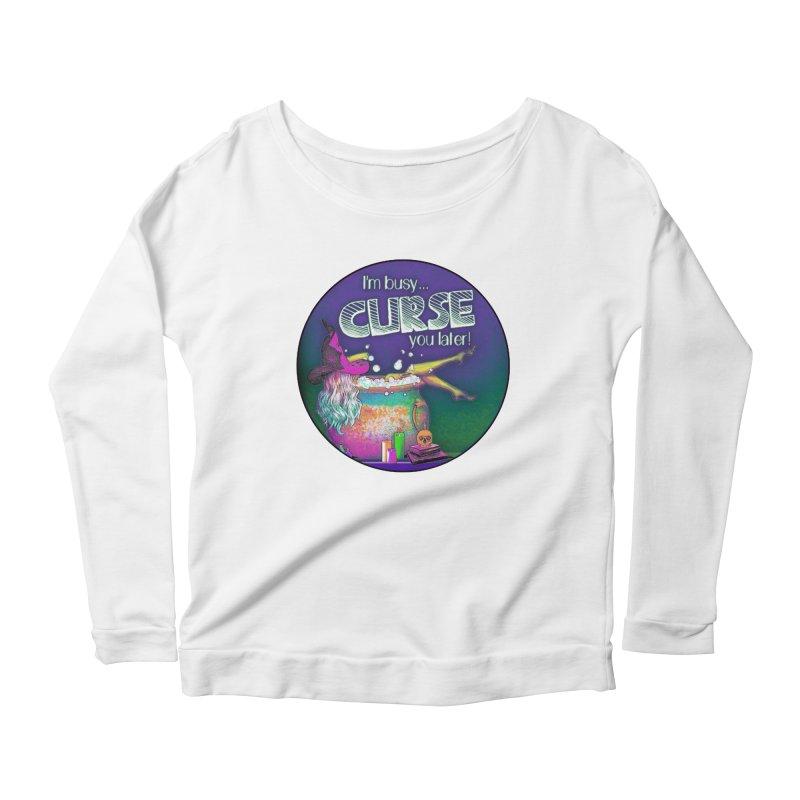 Curse You Later Women's Scoop Neck Longsleeve T-Shirt by Jason Henricks' Artist Shop