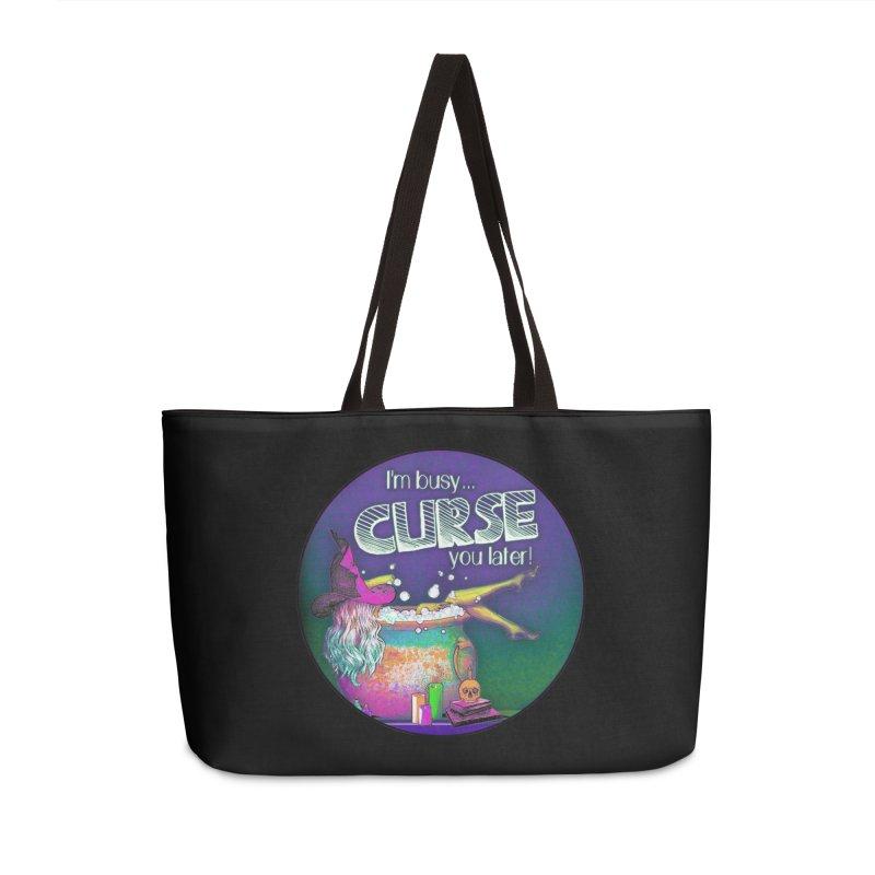 Curse You Later Accessories Weekender Bag Bag by Jason Henricks' Artist Shop
