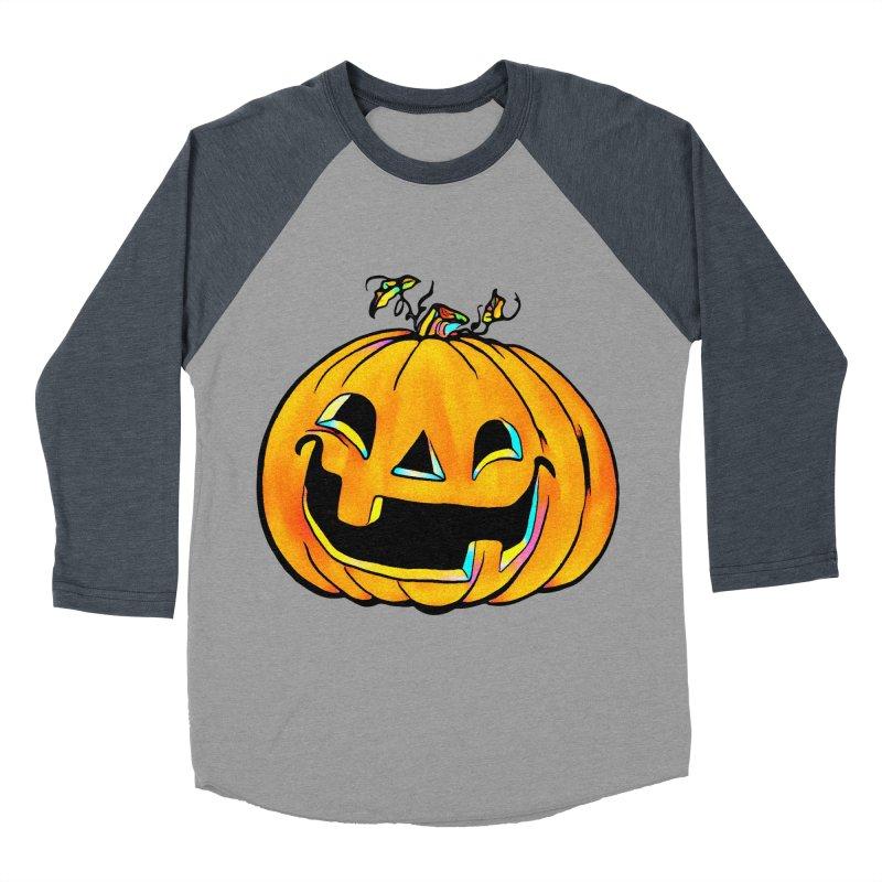 Party Pumpkin  Women's Baseball Triblend T-Shirt by Jason Henricks' Artist Shop