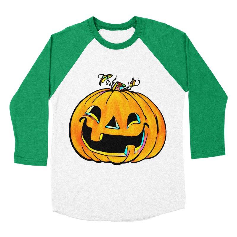 Party Pumpkin  Men's Baseball Triblend T-Shirt by Jason Henricks' Artist Shop
